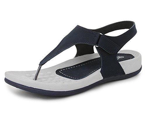 a7baca59c80 A beautiful hand picked just for a woman like you Trase QURE Navy Blue  Women s Dailywear Footwear   Sandal ( Ultra Light Eva Sole) – 7 IND UK –  fashion ...
